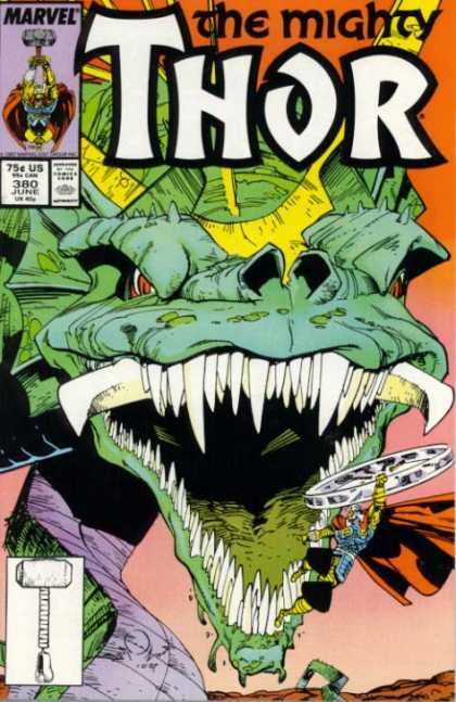 Thor 380 - Dragon - Teeth - Marvel - June - Comics - Walter Simonson