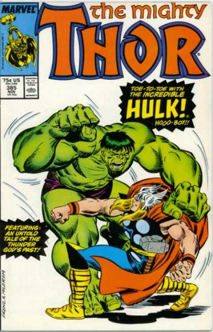 Thor 385 - Hammer - Hulk - Fight - Helmet - Swing