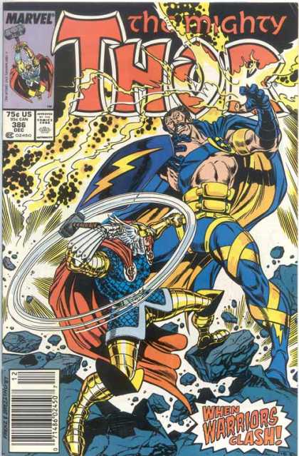 Thor 386 - Hammer - Battle - Superheroes - Smackdown - Cape