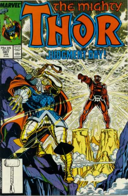 Thor 387 - Judgement Day - The Son Of Lightning - Thors Nemisis - Hammer Of Justice - The Big Fight