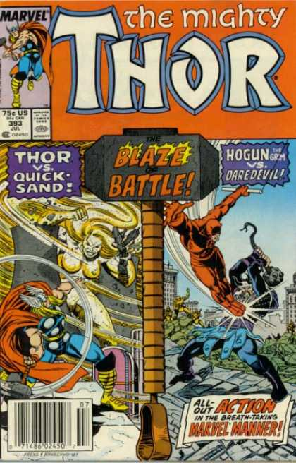 Thor 393 - Daredevil - Marvel - 75c Us - 393 Jul - Hogun Vs Daredevil