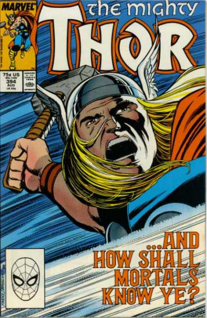 Thor 394 - Viking - Hammer - God Of Thunder - Winged Helmet - Long Blonde Hair