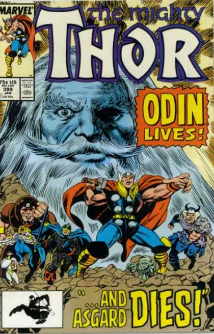 Thor 399 - Marvel Comics - Odin Lives - Viking Horn Hat - Asgard Dies - Cape