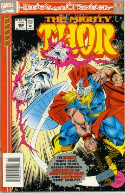 Thor 468 - Silver Surfer - The Mighty - Blood And Chunoer - Marvel Comics - 125 Us