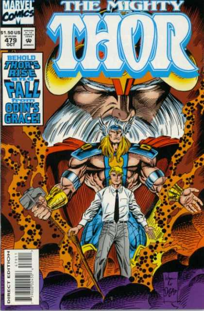 Thor 479 - Marvel Comics - 479 October - Rise And Fall - Odins Grace - Direct Edition