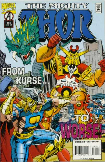 Thor 486 - From Kurse To Worse - Fighting - Marvel - Direct Edition - Hammer