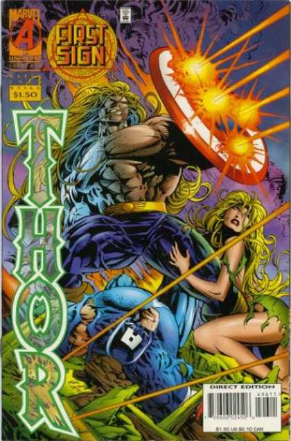 Thor 496 - First Sign - Shield - Fire - Woman - Warrior - Deodato Fiho