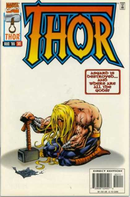 Thor 501 - Asgard - Destroyed - Gods - Collapsed - Mallet - Deodato Fiho