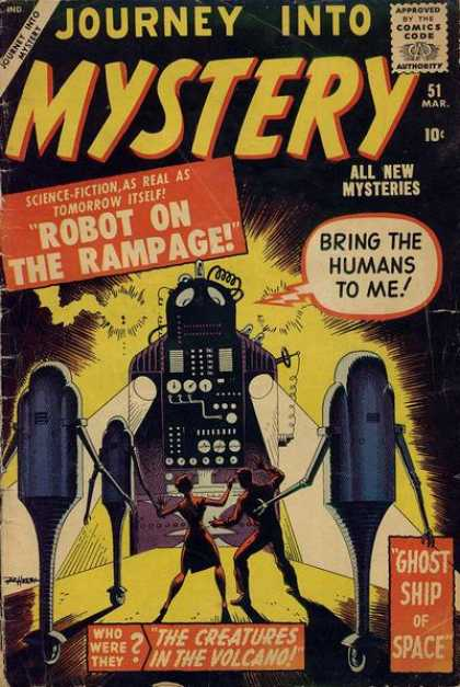 Thor 51 - All New Mysteries - Robot On The Rampage - Bring The Humans To Me - Ghost Ship Of Space - The Creatures In The Volvano