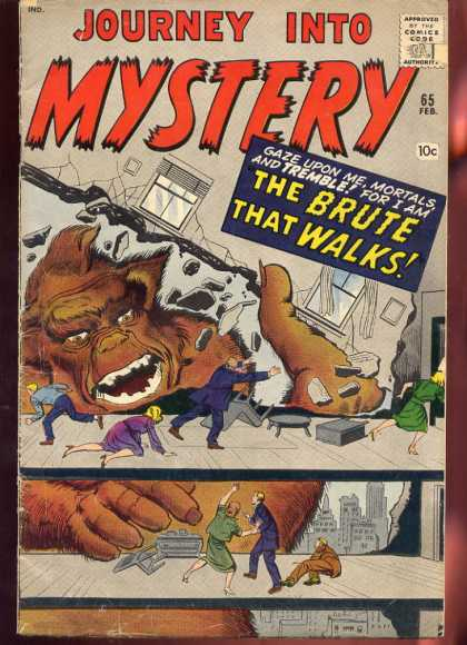 Thor 65 - King Kong - The Brute That Walks - Ape - Office Building - Secretary