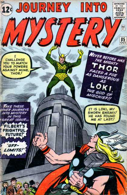 Thor 85 - Marvel - Journey Into Mystery - Loki - Fight - God Of Mischief