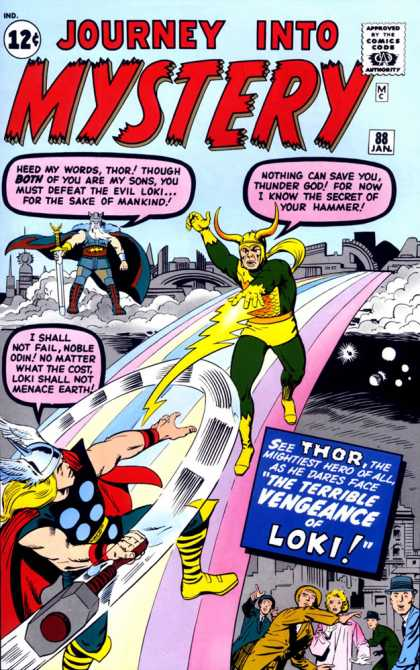 Thor 88 - Loki - Odin - Journey Into Mystery - 12 Cents - 12c