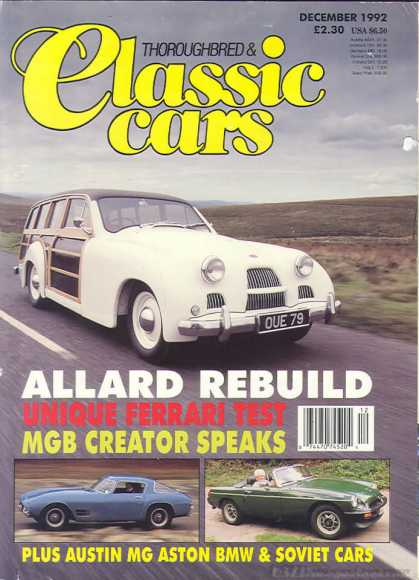 Thoroughbred & Classic Cars - December 1992