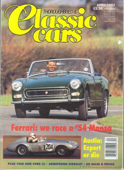 Thoroughbred & Classic Cars - April 1993