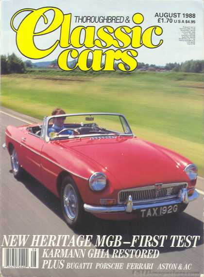 Thoroughbred & Classic Cars - August 1988