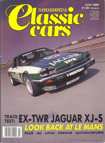 Thoroughbred & Classic Cars - July 1989