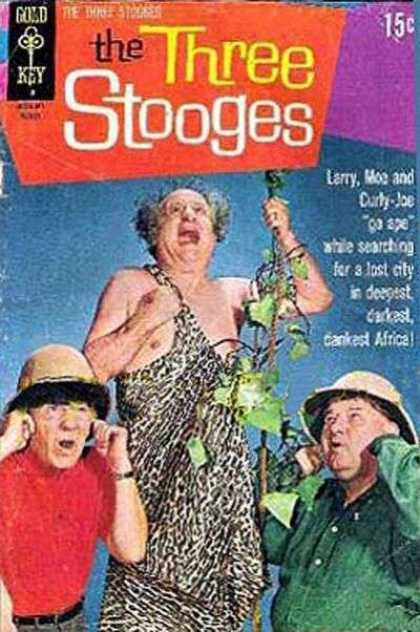Three Stooges 50 - Larry - Moe - Curly - Veine - Pith Helmet