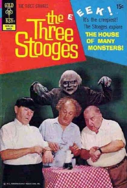Three Stooges 54 - Gold Key - 15 Cents - Larry - Curly - Moe