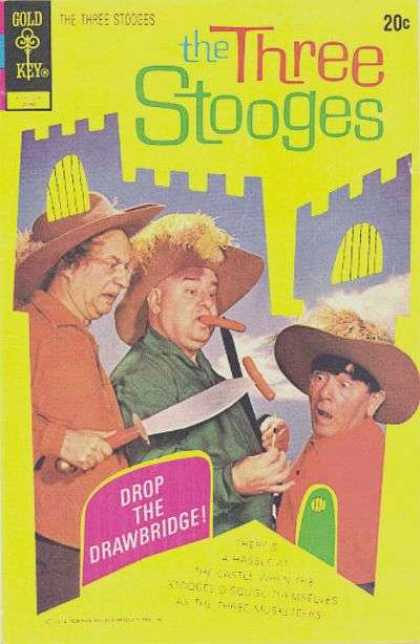 Three Stooges 55 - Three Stooges - Hot Dogs - Gold Key - Castle - Hats