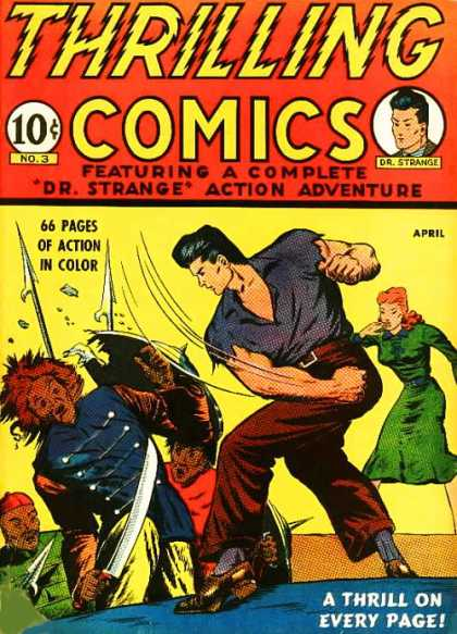 Thrilling Comics 3 - Dr Strange - Sword - Shield - Spear - Woman
