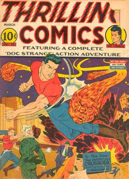 Thrilling Comics 34 - March - 10 Cents - Doc Strange - Punch - Stars