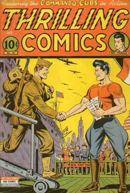 Thrilling Comics 50 - Commando Cubs - Thrilling - Army - Us - Soldier