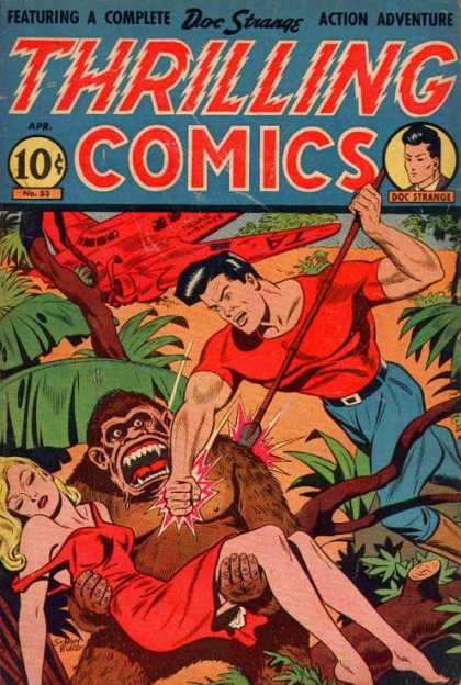 Thrilling Comics 53 - One Man - Weapon - Killing - One Girl - One Animal