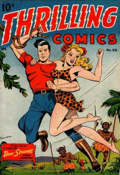 Thrilling Comics 59 - Red Shirt - Doc Strange - Natives - Cheetah - Rope