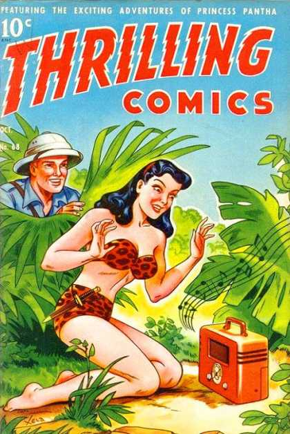 Thrilling Comics 68 - Princess - Pantha - Exciting - Adventures - Jungle
