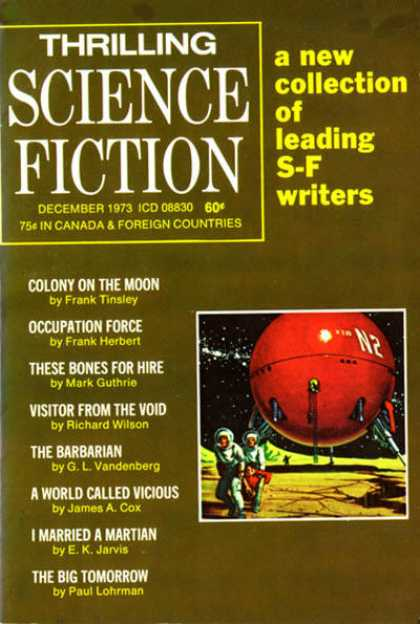 Thrilling Science Fiction - 12/1973