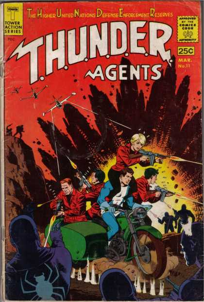 Thunder Agents 11 - Thunder Agents - Motorcycle - 5 People - 1 Woman - Guns Blazing