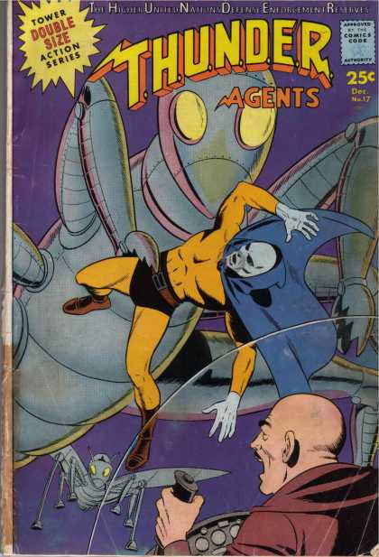 Thunder Agents 17 - Tower Double Size Action Series - Thunder Agents - Large Insect - Small Insect - Man At Controls