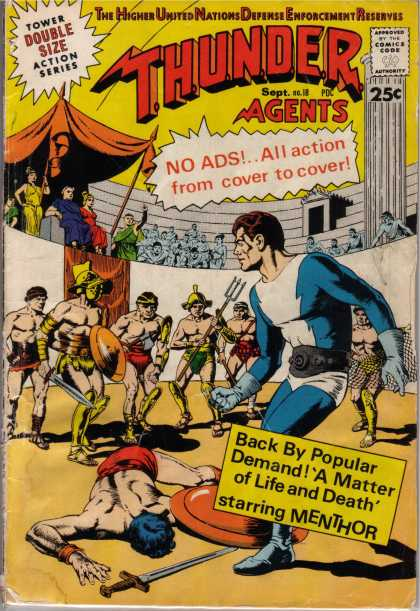 Thunder Agents 18 - Double Size - Action - Cover - Demand - Gladiators