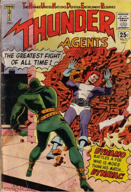 Thunder Agents 2 - Approved By The Comics Code Authority - The Greatest Fight Of All Time - Thunder - Dynamo - Dynavac