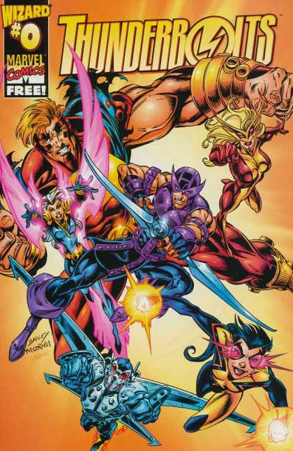 Thunderbolts 0 - Marvel Comics - Wizard 0 - Masks - Wings - Arrow - Mark Bagley