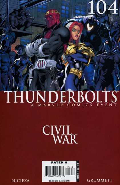 Thunderbolts 104 - Civil War - A Marvel Comics Event - Rated - Nicieza - Grummett - Tom Grummett
