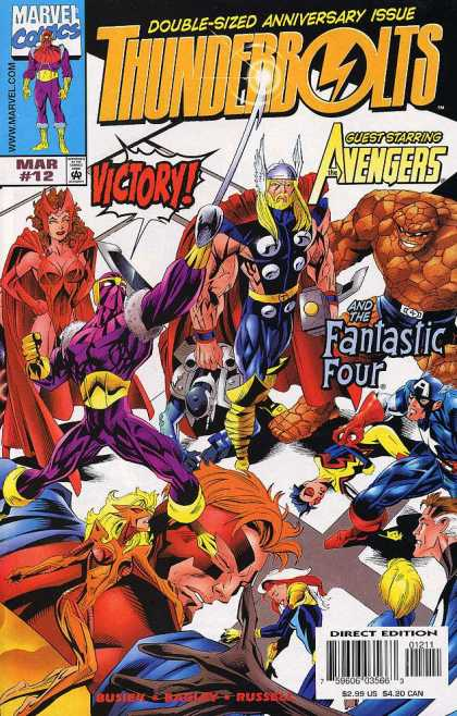 Thunderbolts 12 - Thunderbolts - Anniversary Issue - Avengers - Fantastic Four - Guest Starring - Mark Bagley