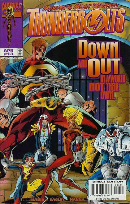Thunderbolts 13 - Marvels Most Wanted - Thunderbolts - Down And Out In A World Not Their Own - Chained Up - Superheros - Mark Bagley