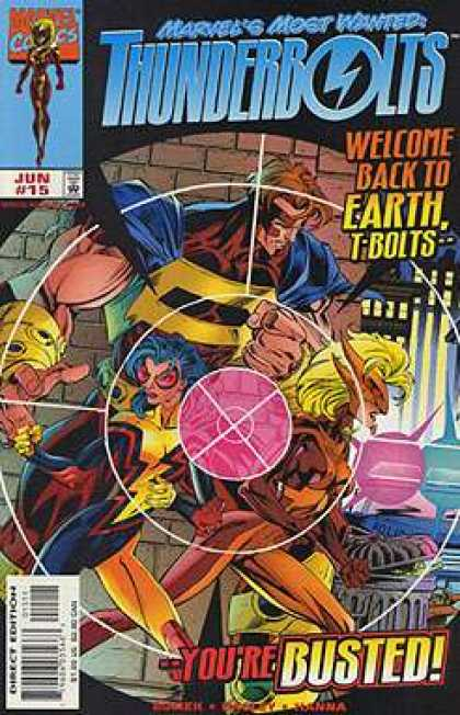 Thunderbolts 15 - T-bolts - Welcome Back To Earth - Target - Brick Wall - Youre Busted - Mark Bagley