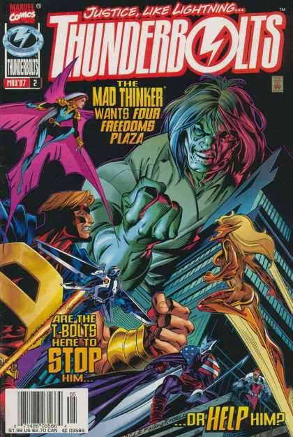 Thunderbolts 2 - The Mad Thinker - Marvel - T-bolts - Building - Help - Mark Bagley