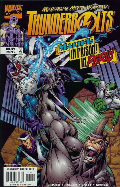Thunderbolts 26 - Nuke - Mach-1 In Prison In Peril - Paladin - Ant-man - Mister X - Mark Bagley