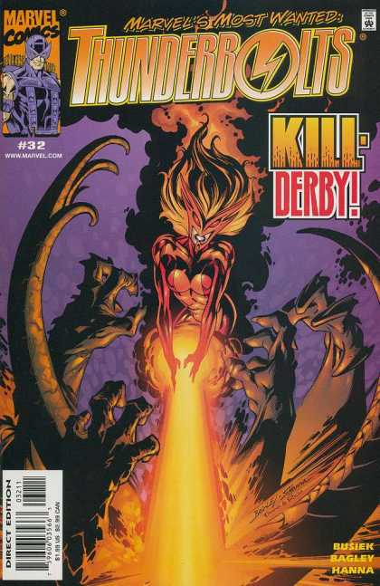 Thunderbolts 32 - Marvel Comics - Approved By The Comics Code Authority - Kill-derby - Direct Edition - Hanna - Mark Bagley