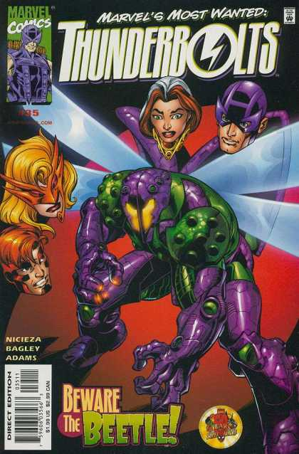 Thunderbolts 35 - Marvels Most Wanted - Beware The Beetle - Nicieza Bagley Adams - Masks - Purple Fly - Mark Bagley