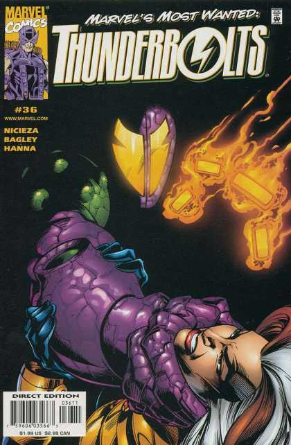 Thunderbolts 36 - Firer - Evil - Choking - Purple - Dying - Mark Bagley