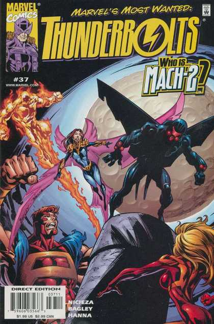 Thunderbolts 37 - Marvels Most Wanted - Who Is Mach 2 - 37 - Nicieza - Outer Space - Mark Bagley