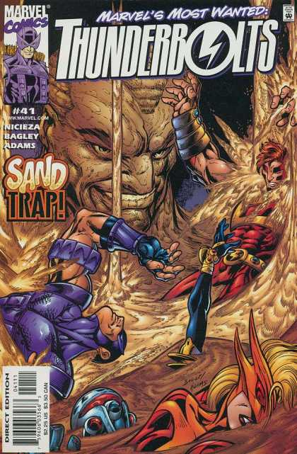 Thunderbolts 41 - Marvel - Number 41 - Sand Trap - Marvels Most Wanted - Direct Edition - Mark Bagley