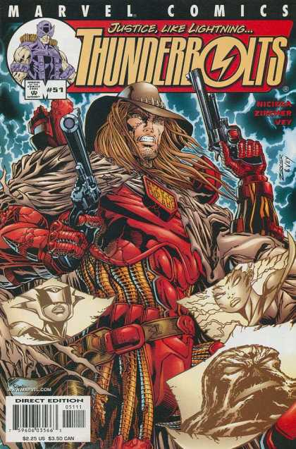 Thunderbolts 51 - Marvel - 51 - Brown Hat - Guns - Thunder