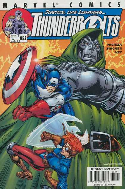 Thunderbolts 52 - Marvel Comics - Captain America - Issue 52 - Iron Man - Action Comics