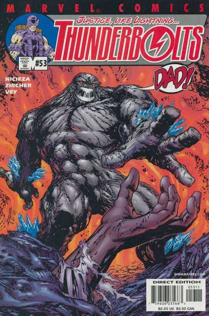 Thunderbolts 53 - Justice Like Liightning - Dad - Purple Hand - Monster - Marvel Comics