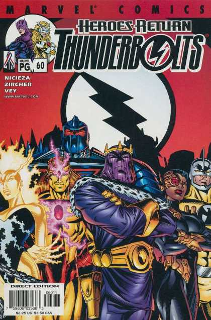 Thunderbolts 60 - Marvel Thunder - Heroes Return - Nicieza Zircher Vey - Thunder Comics - Direct Edition